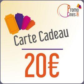 E-Carte Cadeaux électroniques Promo-Cines - 20 euros