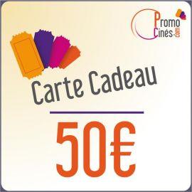 E-Carte Cadeaux électroniques Promo-Cines - 50 euros