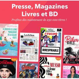 Abonnement, Youboox premium 3 mois de lecture illimitée (presse, roman, BD)